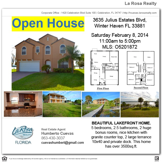 Open House Lake Front Property